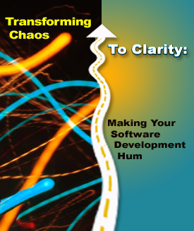 Graphic: Transforming Chaos to Clarity. Graphic designer: Judy Bell.